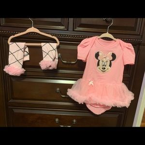 Other - Minnie mouse onesie tutu outfit with leg warmers